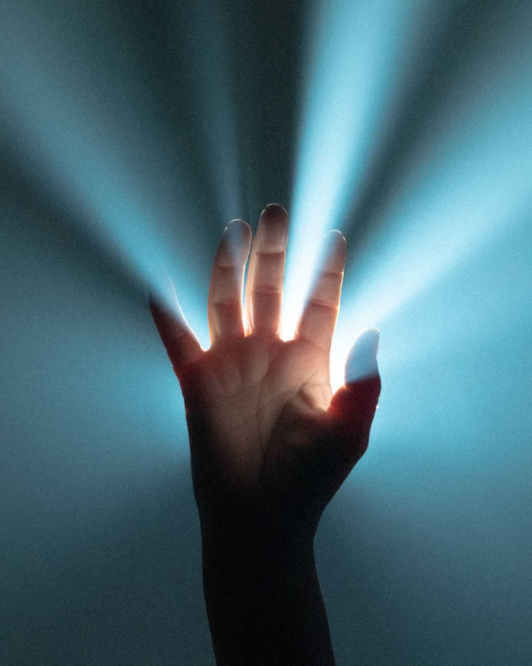 person s hand
